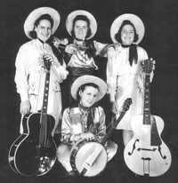Peggy and Her Range Riders - 1938. Donna's mom Peggy is on the left, her aunt, Theresa, on the right