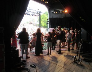 Backstage view: Great Groove Band - Philly Folk Fest 2014