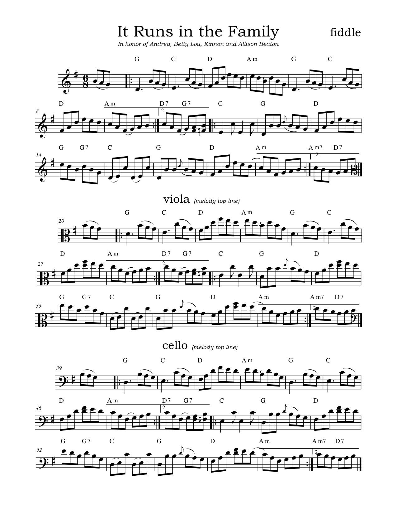 2019 Fiddle Tunes Festival repertoire